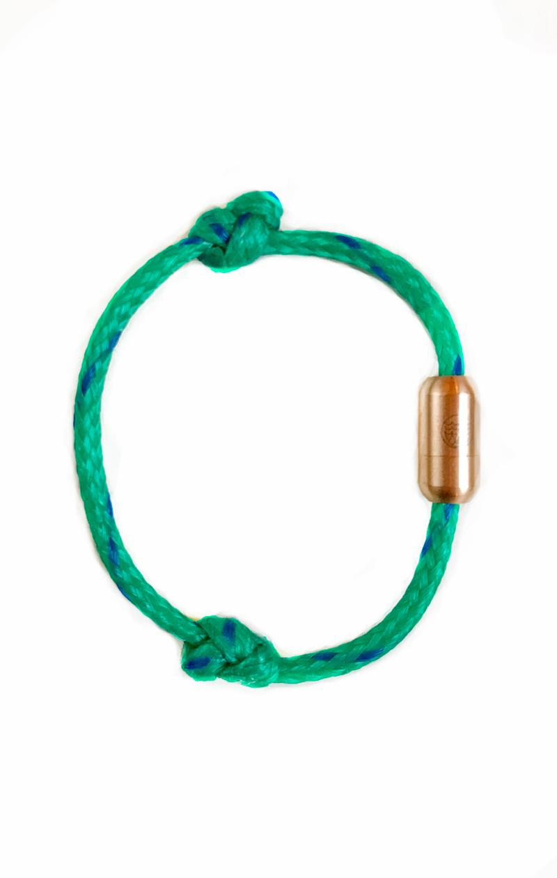 Armband NORTH SEA II grün-roségold