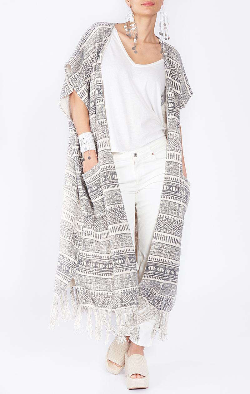 Poncho ETHNIC aus Baumwolle