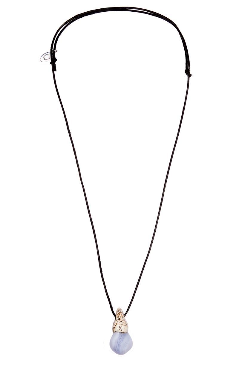 Kette CHALCEDON mit Sternzeichen-Symbol Schütze