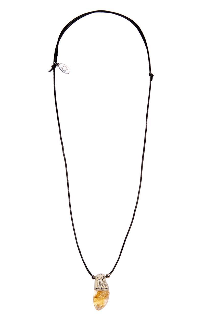 Kette CITRIN mit Sternzeichen-Symbol Jungfrau